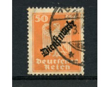 1924 - LOTTO/23013 - GERMANIA REICH - SERVIZIO 50p. ARANCIO - USATO