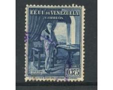 1939 - LOTTO/23018 - VENEZUELA - 37,5 c. CRISTOBAL MENDOZA - USATO