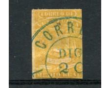 1859/60 - LOTTO/23020 - VENEZUELA - 1/2 REAL ARANCIO - USATO