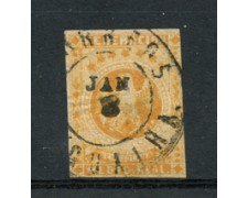 1861 - LOTTO/23021U - VENEZUELA - 1/2 REAL ARANCIO - USATO