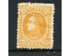 1880 - LOTTO/23025 - VENEZUELA - 25 c,. GIALLO  SIMON BOLIVAR - LING.
