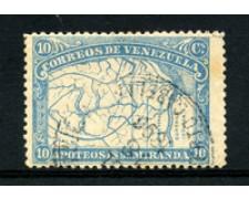 1896 - LOTTO/23027 - VENEZUELA - 10c. F. DE MIRANDA - USATO