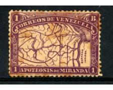 1896 - LOTTO/23029 - VENEZUELA - 1b. VIOLETTO  F. DE MIRANDA - LING.