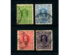 1910/18 - LOTTO/23037 - NORVEGIA - RE HAAKON VII° 4v. - USATI