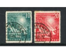 1949 - LOTTO/23038 - GERMANIA FEDERALE - APERTURA PARLAMENTO 2v. - USATI