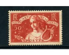 1935 - LOTTO/23042 - FRANCIA - 50c.+2 FR. PRO INTELLETTUALI - LING.