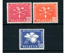1960 - LOTTO/23107 - SVIZZERA - SERVIZIO UFFICIO METEREOLOGICO 3v. - NUOVI