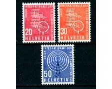 1960 - LOTTO/23112 - SVIZZERA - SERVIZIO TELECOMUNICAZIONI 3v. - NUOVI