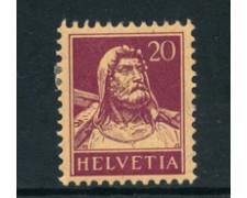 1916 - LOTTO/23115 - SVIZZERA - 20 CENT. GUGLIELMO TELL - LING.