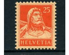 1916 - LOTTO/23116 - SVIZZERA - 25 CENT. GUGLIELMO TELL - NUOVO