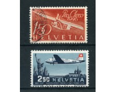1946/47 - LOTTO/23119 - SVIZZERA - POSTA AEREA 2 V.  USATI