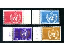 1973 - LOTTO/23120 - SVIZZERA - SERVIZIO - METEREOLOGIA 4v. - NUOVI