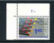 1988  - LOTTO/23146 - SVIZZERA - SERVIZIO 140c.TELECOMUNICAZIONI NUOVO