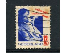 1931 - LOTTO/23164 - OLANDA - 12+3,5 C. PRO INFANZIA - USATO