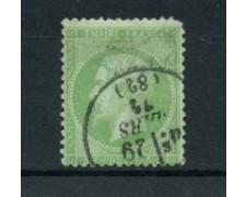 1871 - LOTTO/23192 - FRANCIA - 5 CENT. VERDE CHIARO NAPOLEONE - USATO