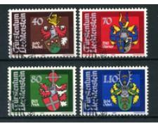 1980 - LOTTO/23207 - LIECHTESTEIN - STEMMI LANDAMMANNI 4v. -  USATI
