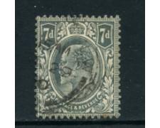 1910 - lotto/23209 - GRAN BRETAGNA - 7p. GRIGIO EDOARDO VII° - USATO