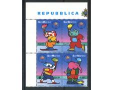 2002 - LOTTO/23317 - SAN MARINO - OLIMPIADI INVERNALI 4v. - NUOVI