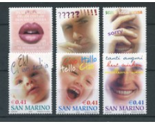 2002 - LOTTO/23332 - SAN MARINO - FRANCOBOLLI AUGURALI 6v. - NUOVI