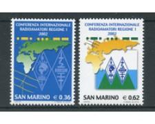 2002 - LOTTO/23333 - SAN MARINO - CONFERENZA RADIOAMATORI 2v. - NUOVI