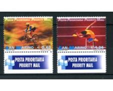 2002 - LOTTO/23334 - SAN MARINO - POSTA PRIORITARIA SPORT 2v. - NUOVI