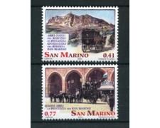 2003 - LOTTO/23336 - SAN MARINO - LE DILIGENZE POSTALI 2v. - NUOVI