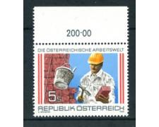 1989 - LOTTO/23351 - AUSTRIA - LAVORO MURATORE - NUOVO