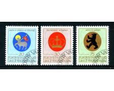 1970 - LIECHTENSTEIN - STEMMI 3v. - USATI - LOTTO/23352U
