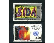 1990 - LOTTO/23363 - ONU SVIZZERA - LOTTA A.I.D.S. 2v. - NUOVI
