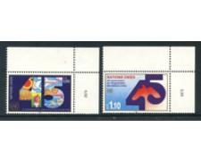 1990 - LOTTO/23365 - ONU SVIZZERA - 45° ANNIVERSARIO 2v. - NUOVI