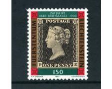1990 - LOTTO/23367 - LIECHTENSTEIN - 150° ANNIVERSARIO DEL FRANCOBOLLO - NUOVO