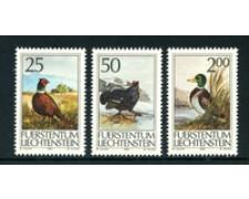 1990 - LOTTO/23369 - LIECHTENSTEIN - LA CACCIA 3v. - NUOVI