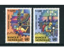 1989 - LOTTO/23379 - ONU SVIZZERA - BANCA MONDIALE 2v. - NUOVI