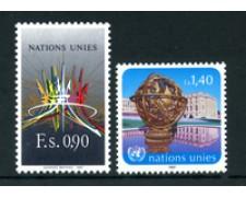 1987 - LOTTO/23382 - ONU SVIZZERA - POSTA ORDINARIA 2v. - NUOVI