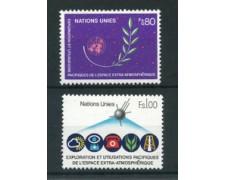 1982 - LOTTO/23390 - ONU SVIZZERA - UTILIZZO SPAZIO 2v. - NUOVI