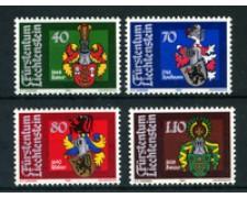 1982 - LOTTO/23423 - LIECHTENSTEIN - STEMMI LANDAMMANNI 4v. - NUOVI