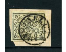 STATO PONTIFICIO - 1852 - LOTTO/23433 - 2 BAJ BIANCO USATO SU FRAMMENTO