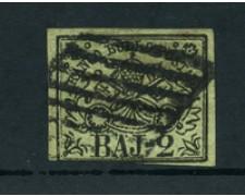 STATO PONTIFICIO - 1852 - LOTTO/23434 - 2 BAJ VERDE OLIVA - USATO