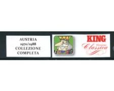 AUSTRIA - 1970/1988 - LOTTO/23466 - COLLEZIONE COMPLETA SU FOGLI MARINI KING