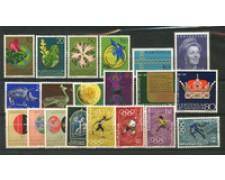 1971 - LOTTO/23472 - LIECHTENSTEIN - ANNATA CPL. 15v . NUOVI
