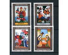 1974 - LOTTO/23492 - LIECHTENSTEIN - NATALE 4v. - NUOVI