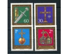 1975 - LOTTO/23497 - LIECHTENSTEIN - TESORO IMPERIALE 4v. - NUOVI
