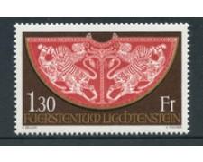 1975 - LOTTO/23499 - LIECHTENSTEIN - TESORO MANTELLO 1v. - NUOVO