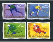 1975 - LOTTO/23500 - LIECHTENSTEIN - OLIMPIADI INVERNALI 4v. - NUOVI