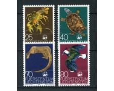 1976 - LOTTO/23503 - LIECHTENSTEIN - PROTEIONE NATURA 4v. - NUOVI