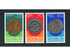 1977 - LOTTO/23512 - LIECHTENSTEIN - MEDAGLIE E MONETE 3v. - NUOVI