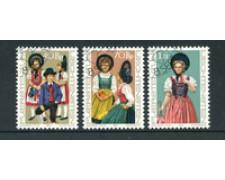 1977 - LOTTO/23515U - LIECHTENSTEIN - COSTUMI NAZIONALI 3v. - USATI