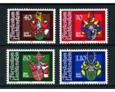1980 - LOTTO/23533 - LIECHTENSTEIN - STEMMI LANDAMMANNI 4v. - NUOVI