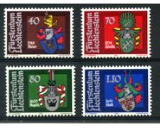 1981 - LOTTO/23541 - LIECHTENSTEIN - STEMMI LANDAMMANNI 4v. - NUOVI