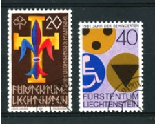 1981 - LOTTO/23543U - LIECHTENSTEIN - AVVENIMENTI 2 v. - USATI